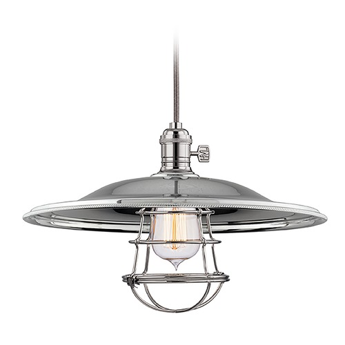 Hudson Valley Lighting Hudson Valley Lighting Heirloom Polished Nickel Pendant Light with Bowl / Dome Shade 8002-PN-MM2-WG