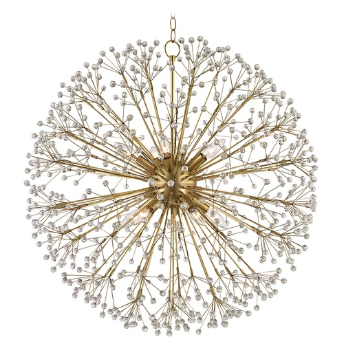Hudson Valley Lighting Hudson Valley Lighting Dunkirk Aged Brass Pendant Light 6030-AGB