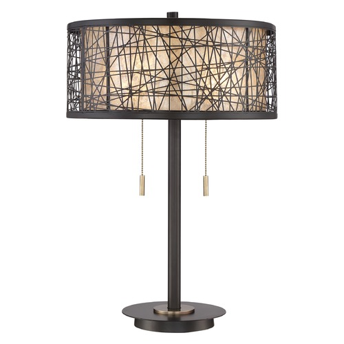 Quoizel Lighting Quoizel Lighting Quoizel Portable Lamp Western Bronze Table Lamp with Drum Shade Q2595TWT