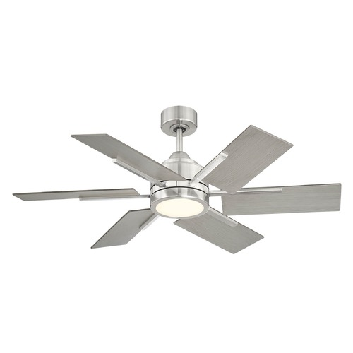 Savoy House Savoy House Lighting Farmhouse Ii Brushed Pewter LED Ceiling Fan with Light 44-770-6GR-187