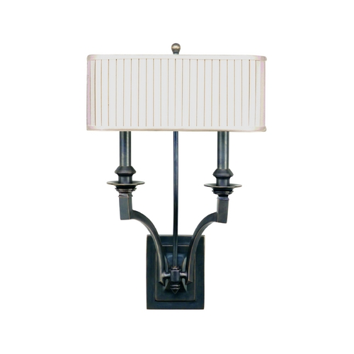 Hudson Valley Lighting Sconce Wall Light with White Shades in Polished Nickel Finish 7902-PN