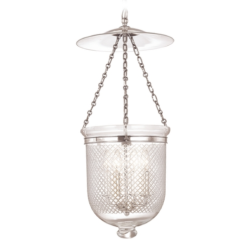 Hudson Valley Lighting Pendant Light with Clear Glass in Polished Nickel Finish 255-PN-C2