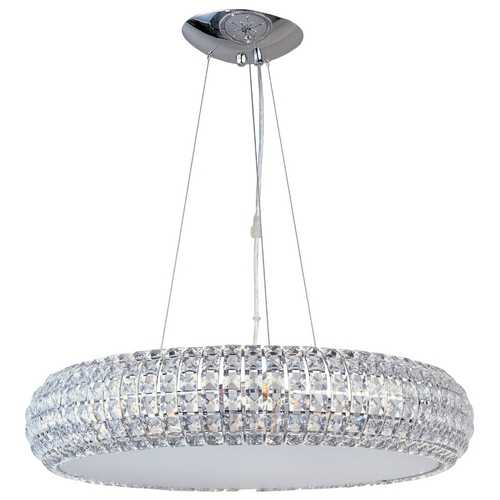 ET2 Lighting Modern Pendant Light with Clear Glass and 8-Lights E21804-20PC