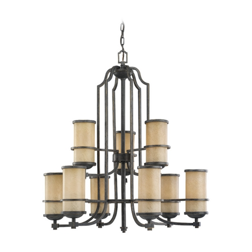 Sea Gull Lighting Nautical Chandelier with Two Tiers and Nine Lights 31522-845