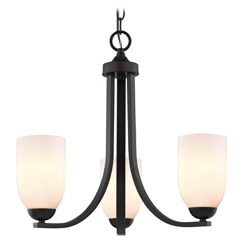 Design Classics Lighting Design Classics Dalton Fuse Neuvelle Bronze Mini-Chandelier 5843-220 GL1024D