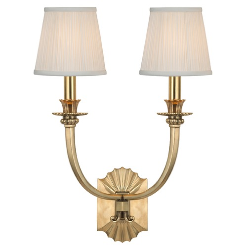 Hudson Valley Lighting Alden 2 Light Sconce - Aged Brass 962-AGB