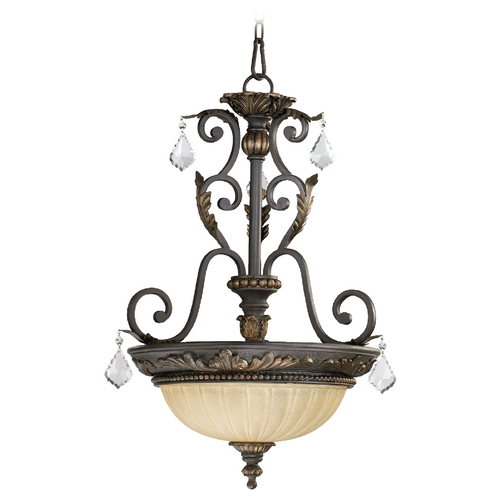 Quorum Lighting Quorum Lighting Rio Salado Toasted Sienna with Mystic Silver Pendant Light 8057-3-44
