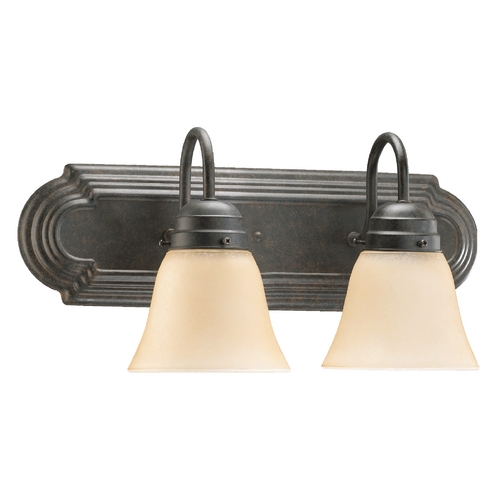 Quorum Lighting Quorum Lighting Toasted Sienna Bathroom Light 5094-2-344