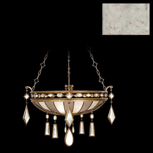 Fine Art Lamps Fine Art Lamps Encased Gems Vintage Silver Leaf Pendant Light 728540-3ST