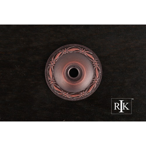 RK International Flat Deco-Leaf Knob Backplate BP489DC