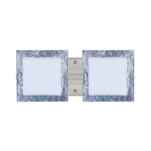 Besa Lighting Besa Lighting Alex Satin Nickel LED Bathroom Light 2WS-7735SF-LED-SN