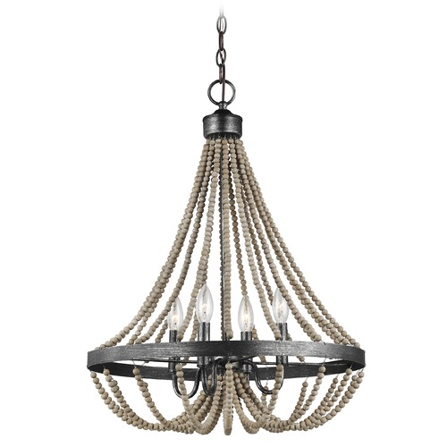 Sea Gull Lighting Sea Gull Lighting Oglesby Washed Pine / Stardust LED Mini-Chandelier 3101904EN-872