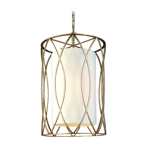 Troy Lighting Pendant Light with White Shades in Deep Bronze Finish F1284DB