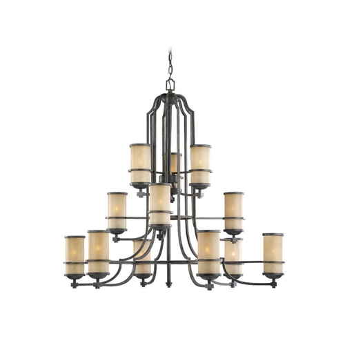 Sea Gull Lighting Nautical Chandelier with Three Tiers and Twelve Lights 31523-845
