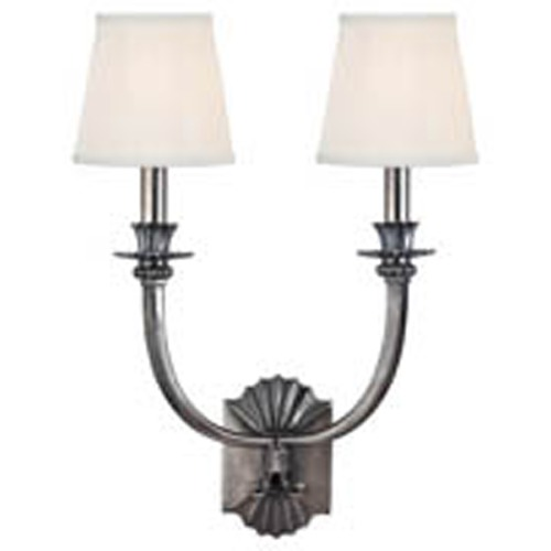 Hudson Valley Lighting Alden 2 Light Sconce - Historic Nickel 962-HN