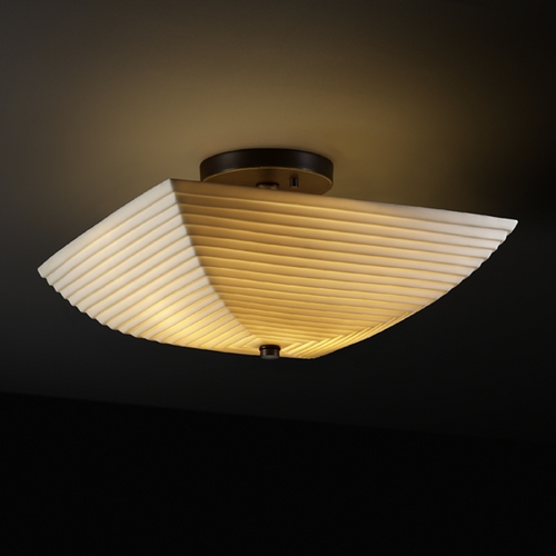 Justice Design Group Justice Design Group Porcelina Collection Semi-Flushmount Light PNA-9695-25-SAWT-DBRZ