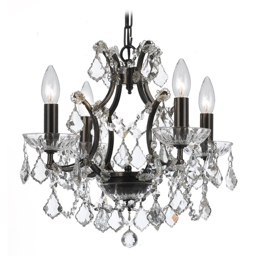 Crystorama Lighting Crystorama Lighting Filmore Vibrant Bronze Crystal Chandelier 4454-VZ-CL-SAQ