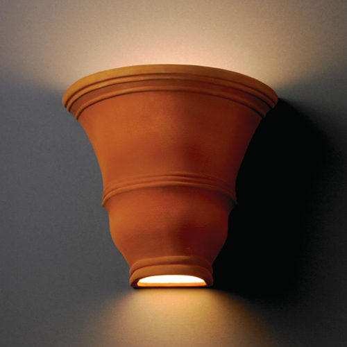 Justice Design Group Sconce Wall Light in Real Rust Finish CER-9835-RRST