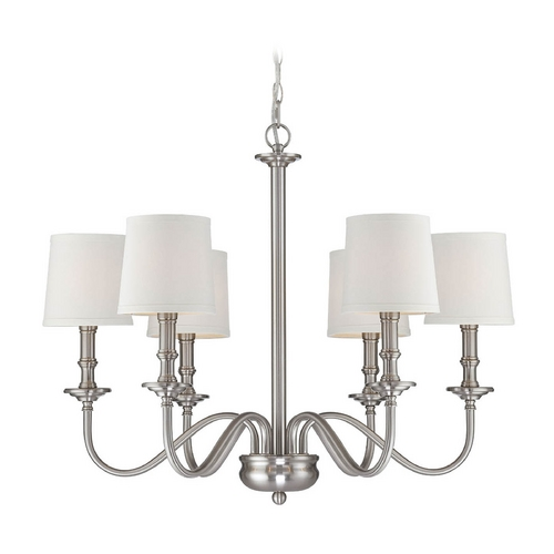Lite Source Lighting Lite Source Lighting Sampson Polished Steel Chandelier LS-19606