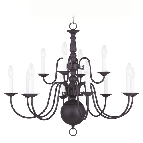 Livex Lighting Livex Lighting Williamsburg Bronze Chandelier 5014-07