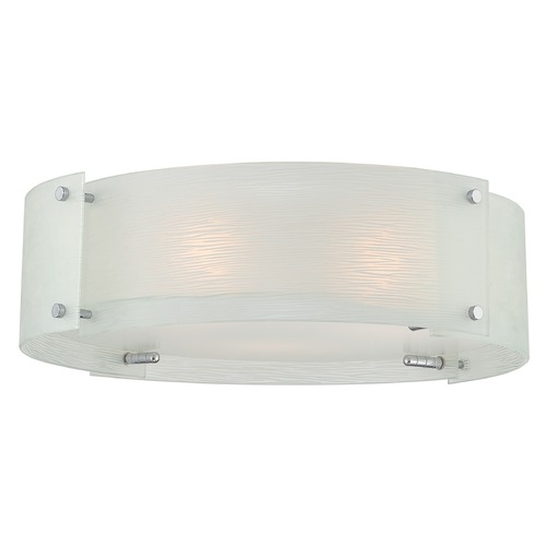 Lite Source Lighting Lite Source Lighting Kaelin Chrome Flushmount Light LS-5419C/FRO