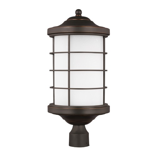 Sea Gull Lighting Sea Gull Sauganash Antique Bronze LED Post Light 8224491S-71
