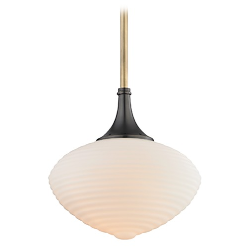 Hudson Valley Lighting Hudson Valley Lighting Knox Aged Old Bronze Pendant Light with Oblong Shade 1912-AOB