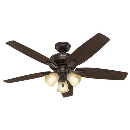 Hunter Fan Company Hunter Fan Company Newsome Premier Bronze Ceiling Fan with Light 53317