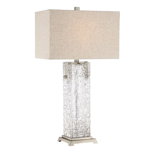 Quoizel Lighting Quoizel Lighting Quoizel Portable Lamp Brushed Nickel Table Lamp with Rectangle Shade Q2597TBN
