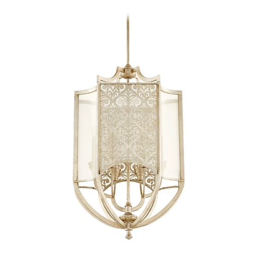 Quorum Lighting Quorum Lighting Bastille Aged Silver Leaf Pendant Light 6975-6-60