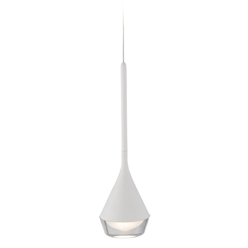 WAC Lighting Wac Lighting Blast Off White LED Mini-Pendant Light with Drum Shade PD-62913-WT