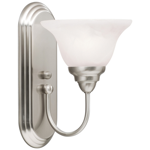 Kichler Lighting Kichler Sconce Wall Light with Amber Shade in Brushed Nickel Finish 10604NI
