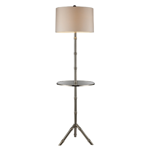 Elk Lighting Modern Table Lamp with White Shade in Silver Plated Finish D1403S