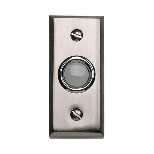 Atlas Homewares Doorbell Button in Brushed Nickel Finish DB644-BRN
