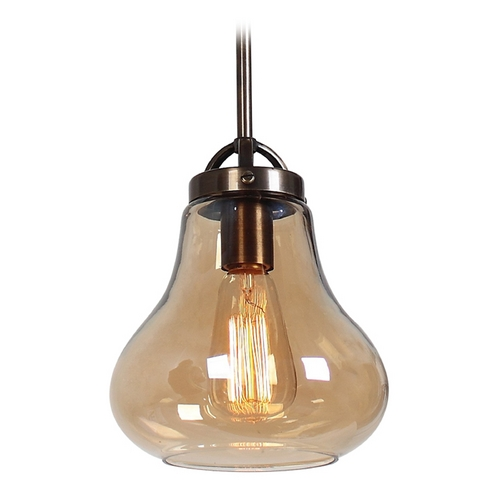 Access Lighting Access Lighting Flux Distressed Bronze Mini-Pendant Light 55545-DBRZ/AMB
