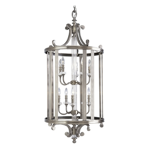 Progress Lighting Progress Crystal Pendant Light in Classic Silver Finish P2816-101