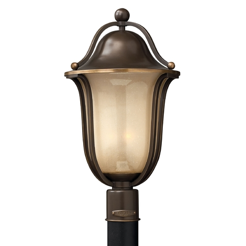 Hinkley Lighting Post Light with Amber Glass in Olde Bronze Finish 2631OB-GU24