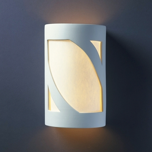Justice Design Group Sconce Wall Light with White in Bisque Finish CER-5335-BIS