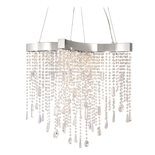ET2 Lighting Crystal Sensation LED Polished Chrome LED Pendant Light E20703-20PC