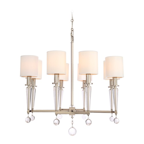 Crystorama Lighting Crystorama Lighting Paxton Polished Nickel Chandelier 8108-PN