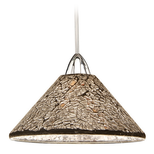 WAC Lighting Wac Lighting Artisan Collection Brushed Nickel Mini-Pendant with Coolie Shade MP-559-MR/BN