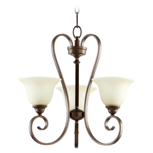 Quorum Lighting Quorum Lighting Celesta Oiled Bronze Chandelier 6053-3-86
