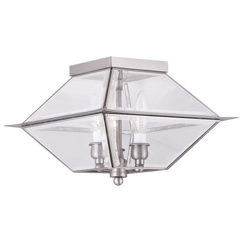 Livex Lighting Livex Lighting Westover Antique Brass Close To Ceiling Light 2185-91