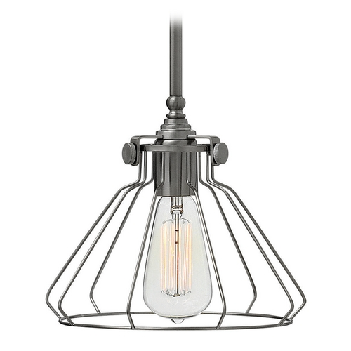 Hinkley Lighting Hinkley Lighting Congress Antique Nickel Mini-Pendant Light 3110AN