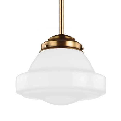 Feiss Lighting Feiss Alcott Aged Brass Pendant Light P1379AGB