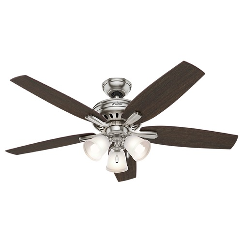 Hunter Fan Company Hunter Fan Company Newsome Brushed Nickel Ceiling Fan with Light 53318