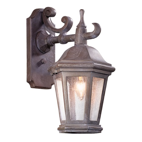 Troy Lighting Seeded Glass Outdoor Wall Light Bronze Patina Troy Lighting BCD6890BZP-C