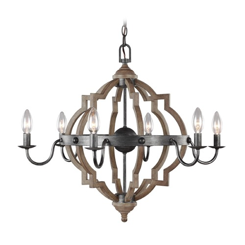 Sea Gull Lighting Sea Gull Lighting Socorro Stardust / Cerused Oak LED Chandelier 3124906EN-846
