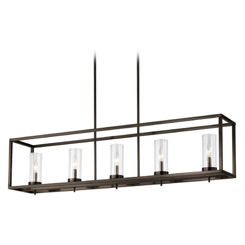 Sea Gull Lighting Sea Gull Lighting Zire Brushed Oil Rubbed Bronze LED Island Light with Cylindrical Shade 6690305EN-778