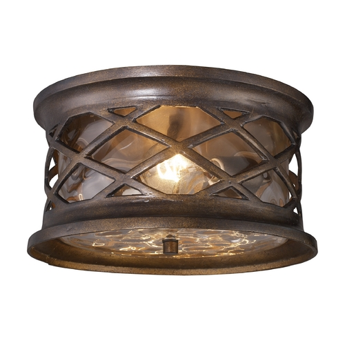 Elk Lighting Close To Ceiling Light with Clear Glass in Hazelnut Bronze Finish 42037/2